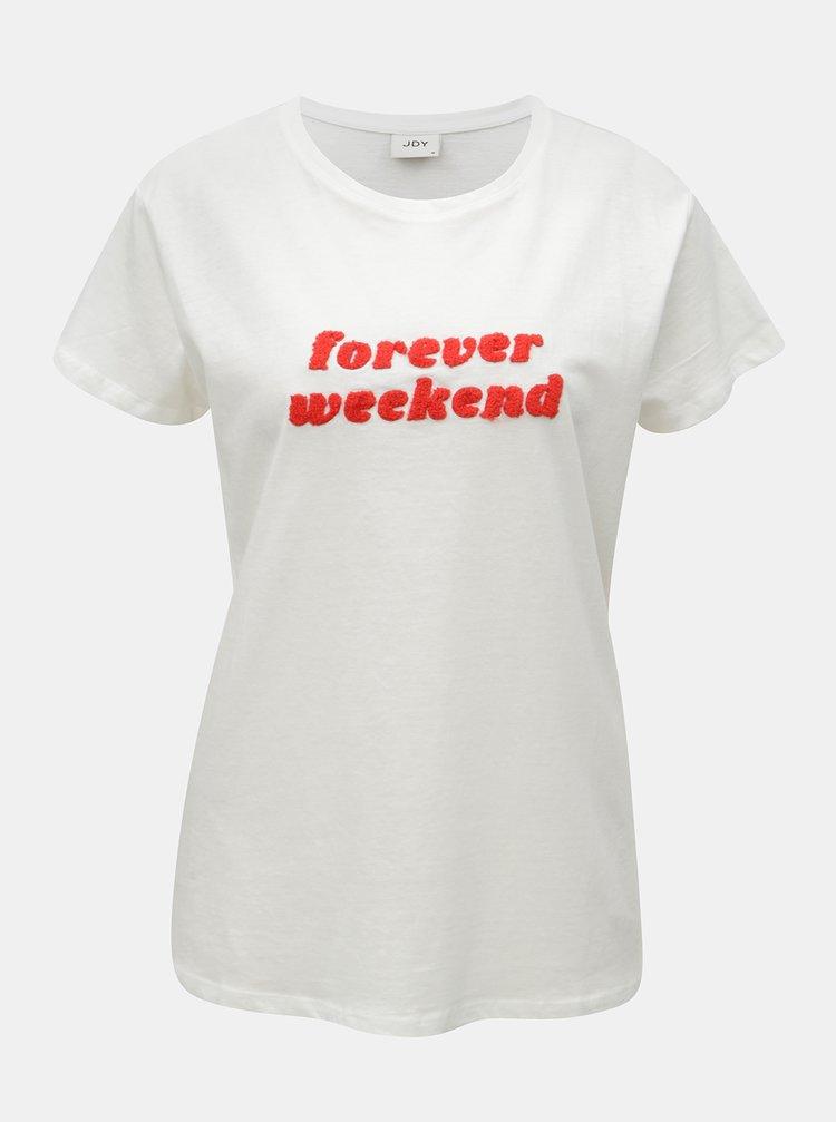 Bílé tričko s nášivkou Jacqueline de Yong School
