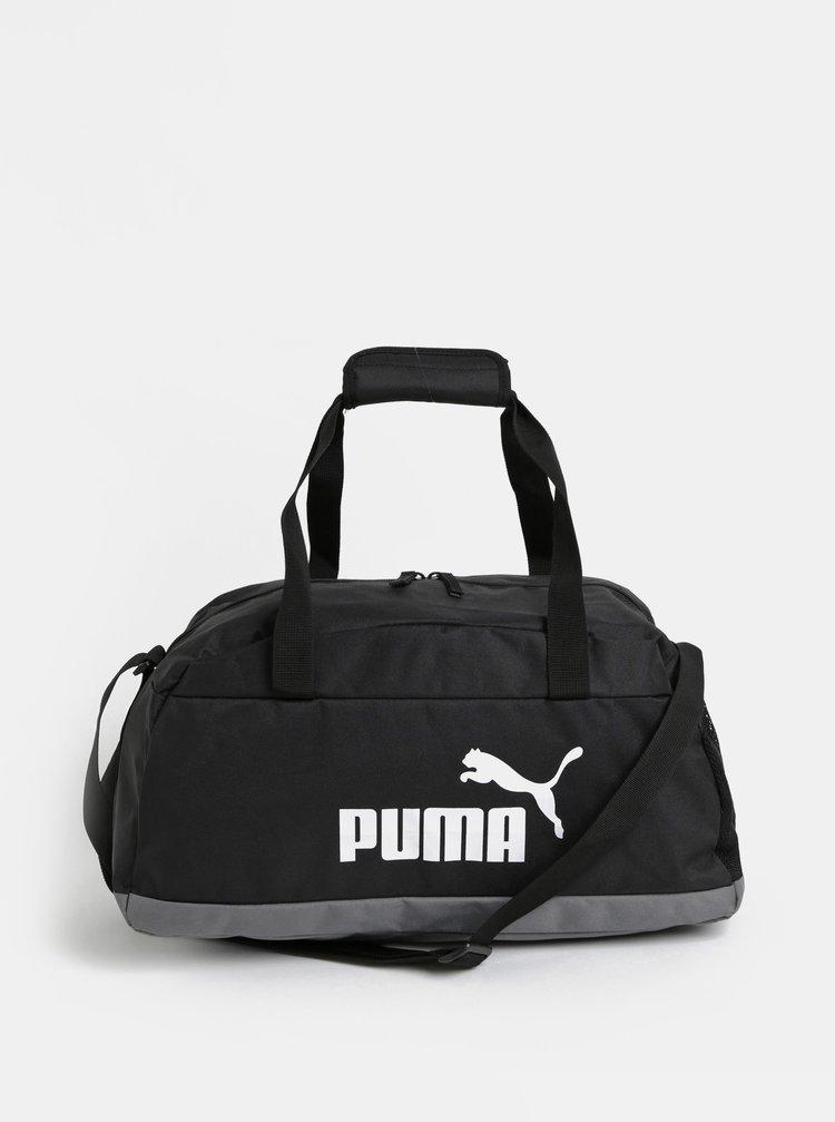 Geanta sport neagra cu print Puma