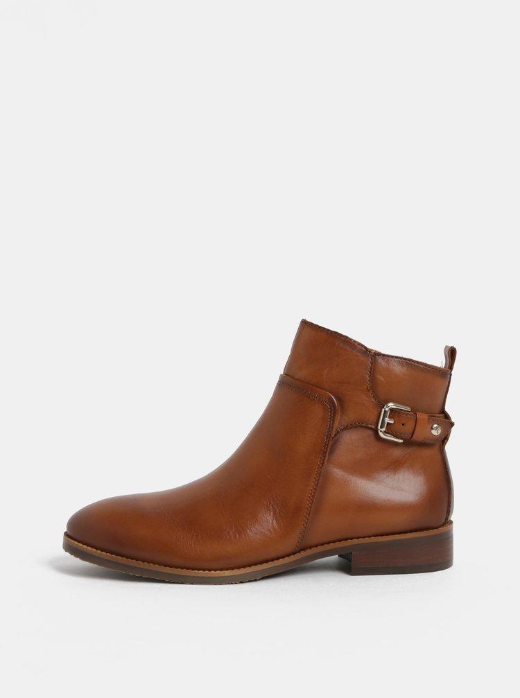 ... Hnědé kožené kotníkové boty Pikolinos Brandy 8cd389872c