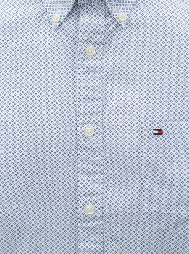 7494f1d01d2d Svetlomodrá pánska vzorovaná regular fit košeľa Tommy Hilfiger