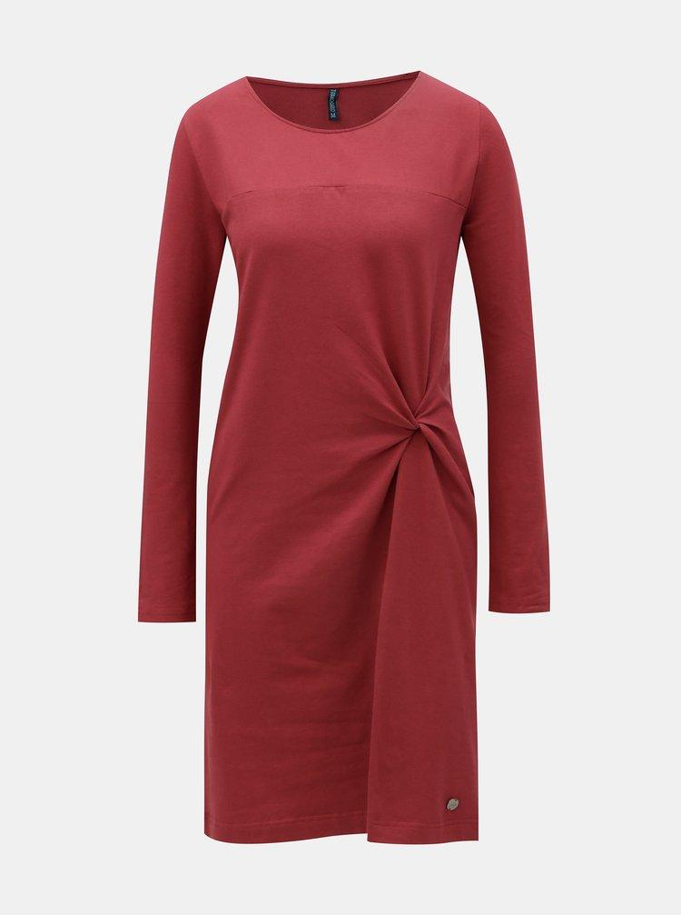 Cihlové šaty s uzlem Tranquillo Feronia