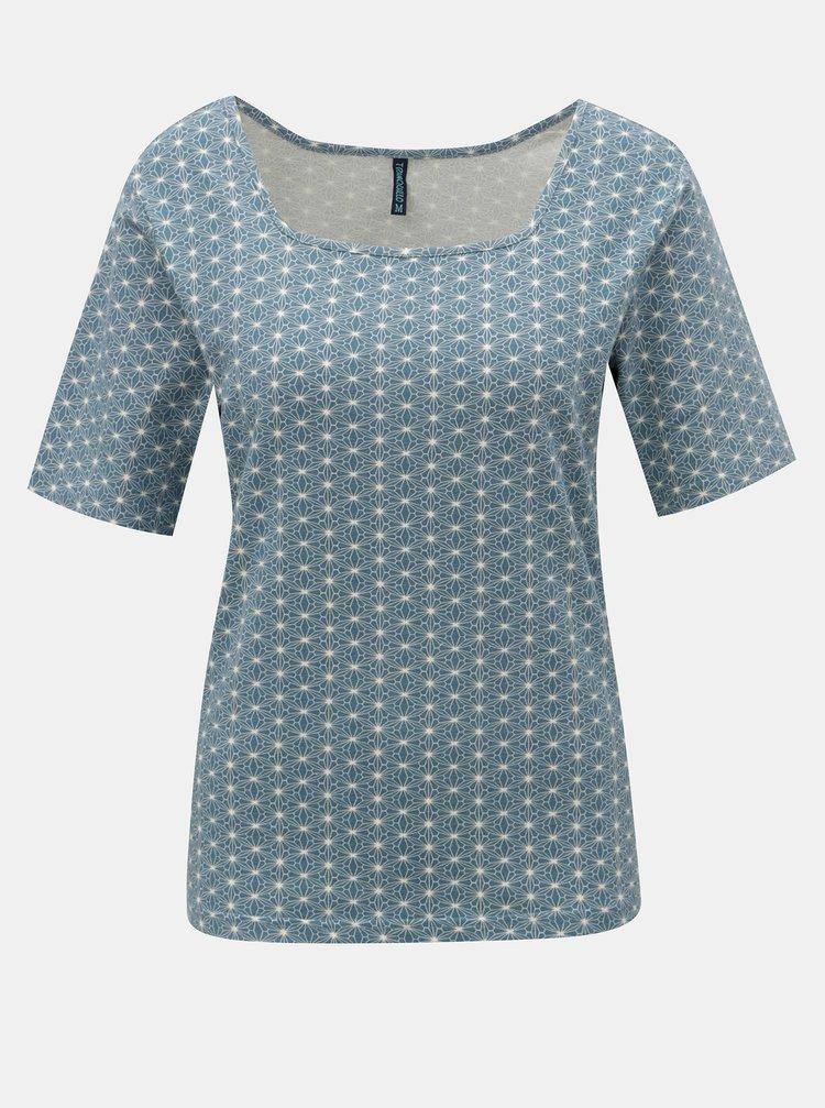 Modré vzorované tričko Tranquillo Indrani