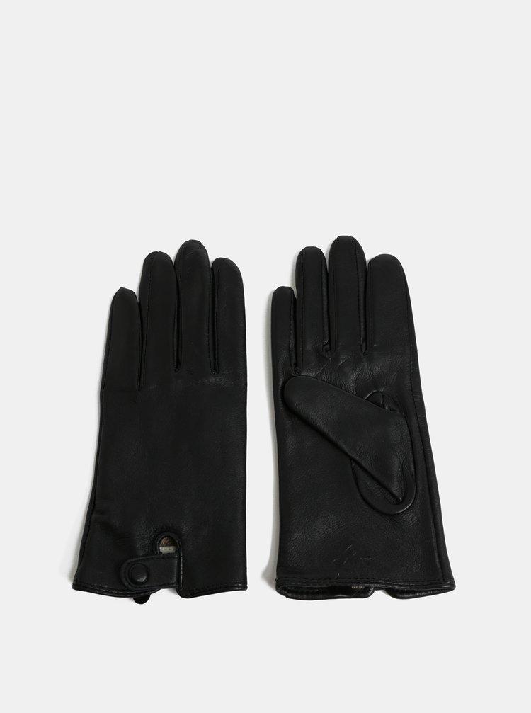 Černé dámské kožené rukavice GANT · Černé dámské kožené rukavice GANT 7e0fa3192a