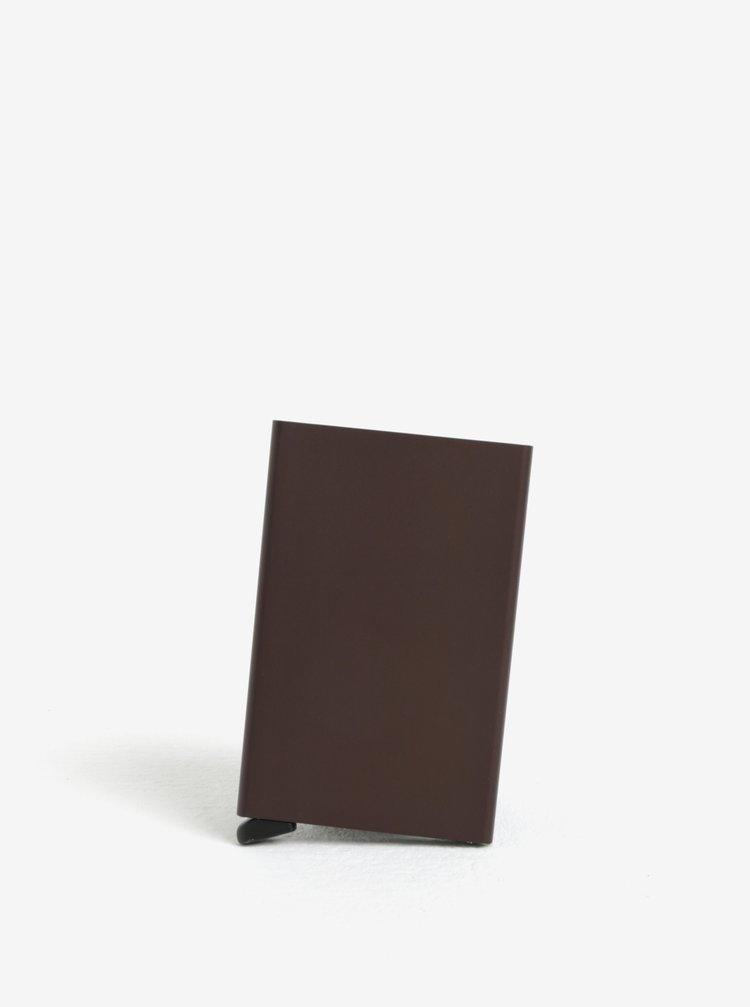 Hnědé hliníkové pouzdro na karty s RFID krytím Secrid Cardprotector