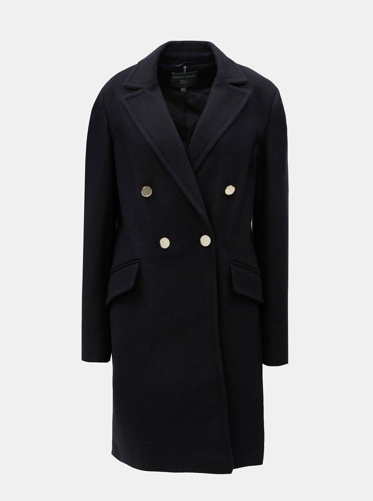 Tmavě modrý dlouhý kabát Dorothy Perkins Tall