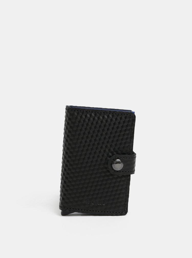Čierna kožená peňaženka s hliníkovým puzdrom s RFID Secrid Miniwallet Cubic