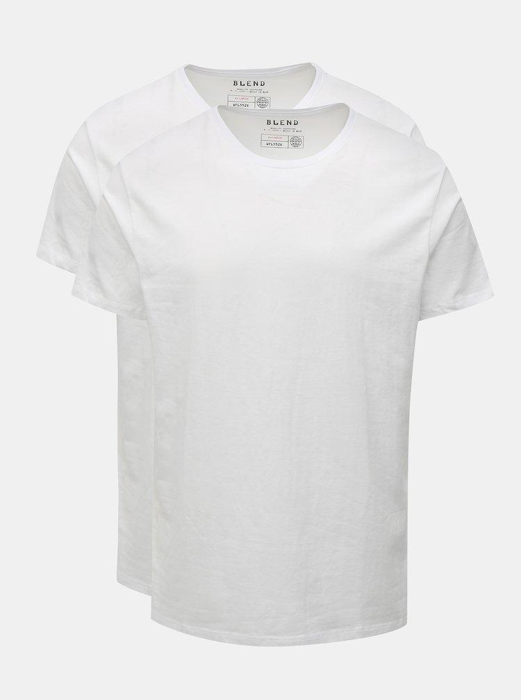 Sada dvou slim fit basic triček pod košili v bílé barvě Blend