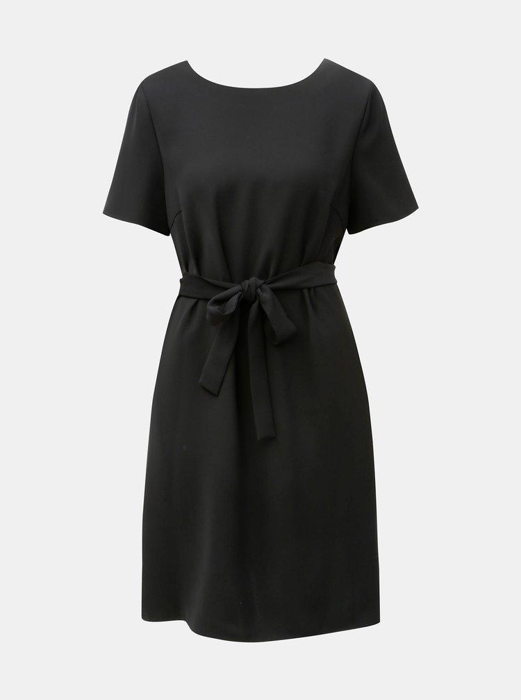 Černé šaty s průstřihem na zádech Tommy Hilfiger Jacky
