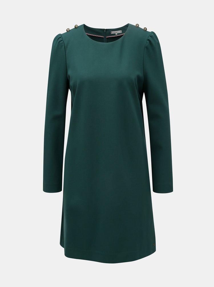 Tmavozelené šaty Tommy Hilfiger Hatia