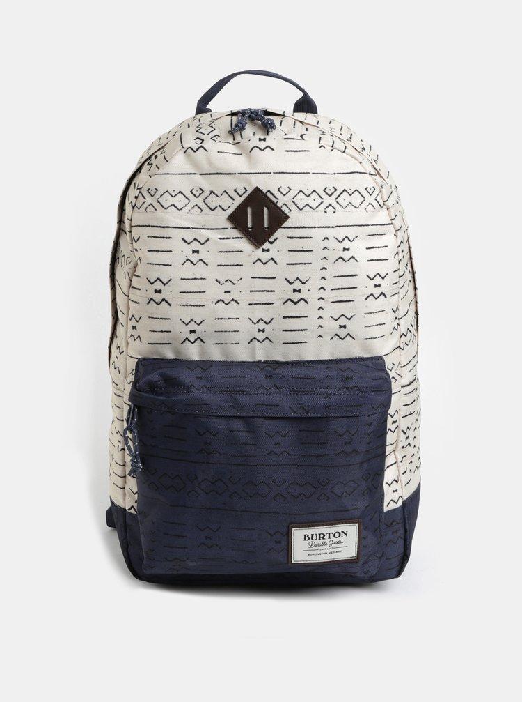 Modro-krémový vzorovaný batoh Burton 20 l