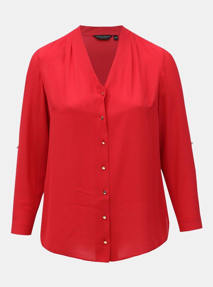 Červená halenka Dorothy Perkins Curve