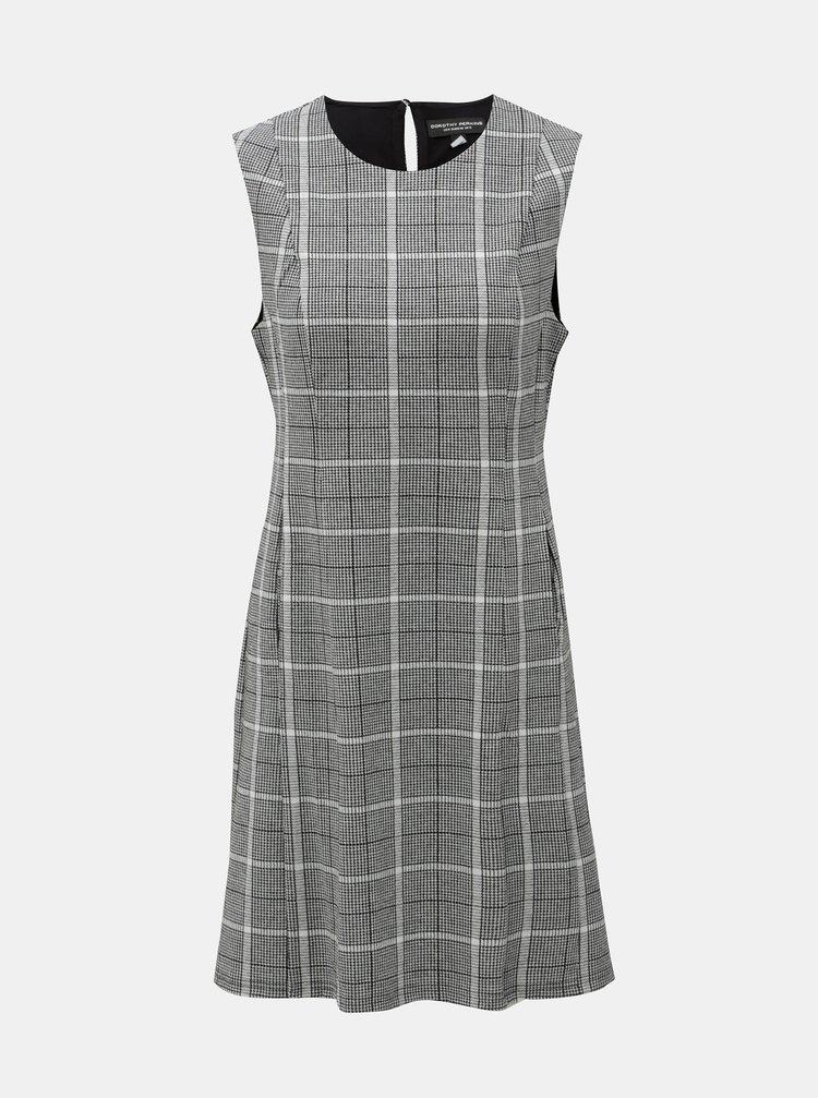 Šedé kostkované šaty s kapsami Dorothy Perkins