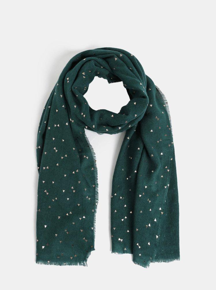 Zelený vzorovaný šál Pieces Kira