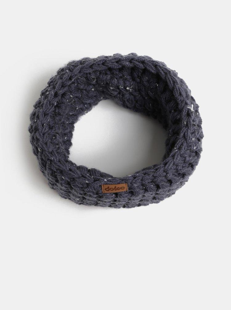 Tmavě modrý pletený nákrčník DOKE