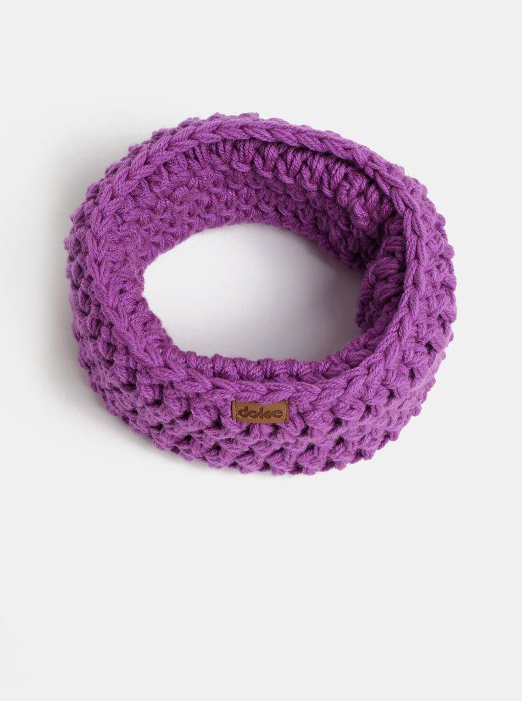 Fialový pletený nákrčník DOKE