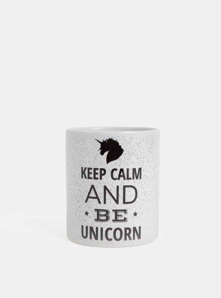 Cana alba cu text si motiv unicorn Butter Kings