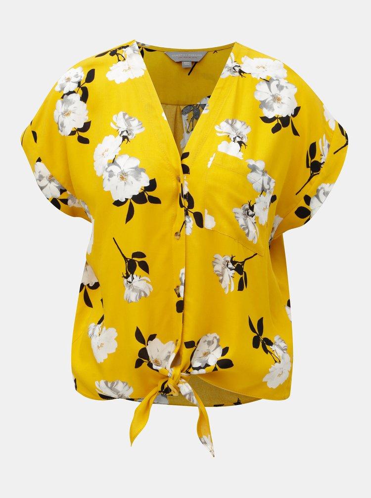 Bluza galbena florala Dorothy Perkins Petite