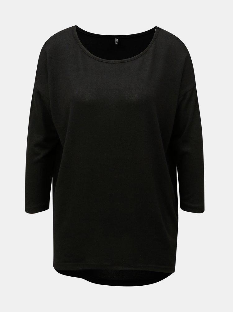 Černý volný svetr s 3/4 rukávem ONLY Elcos