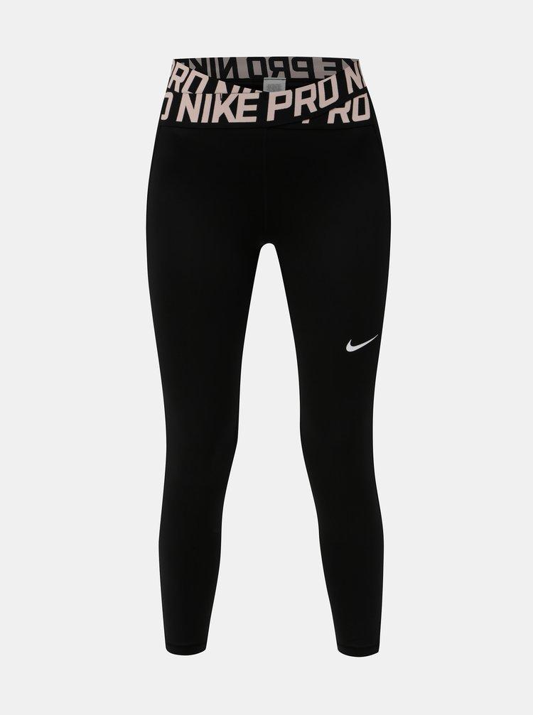 Leggings de dama negri functionali cu banda elastica in talie Nike Intertwist