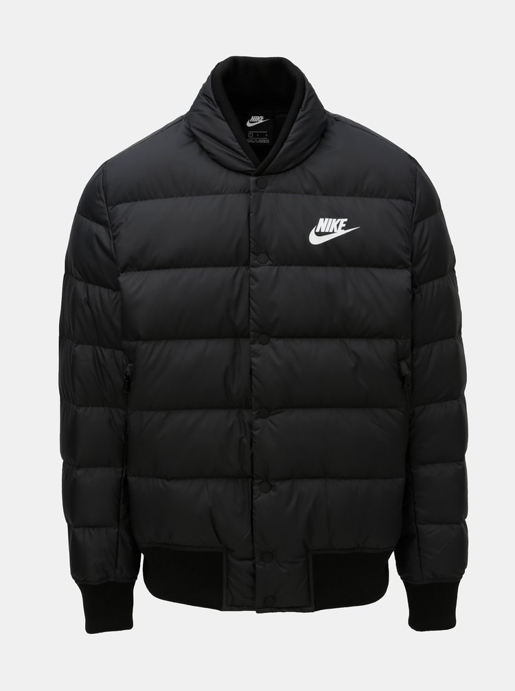 Černá pánská prošívaná péřová bunda Nike Fill