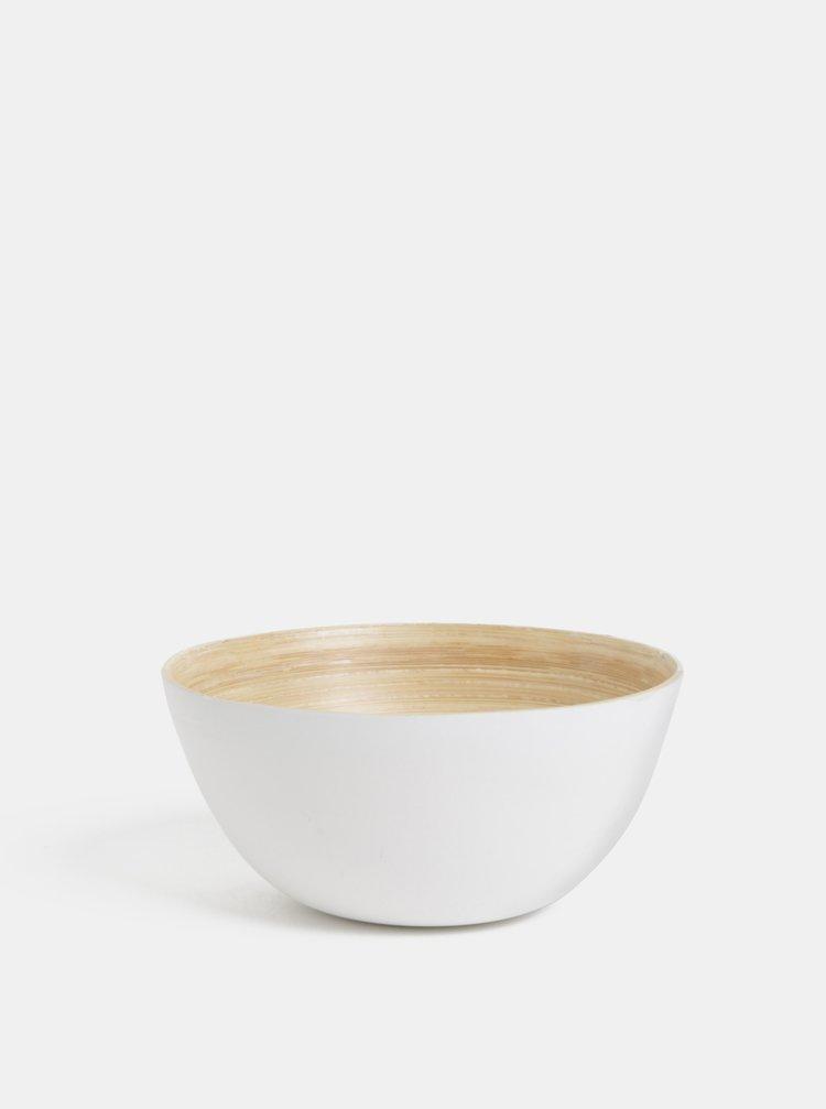 Hnědo-bílá bambusová malá miska Dakls