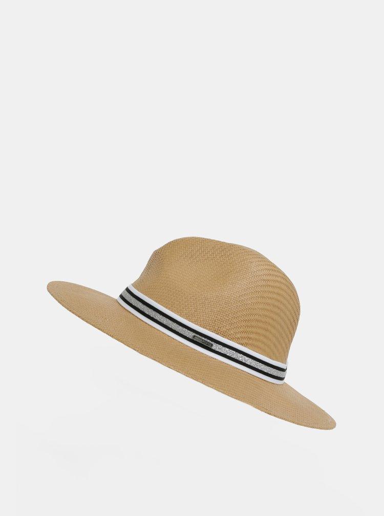 Hnědý dámský klobouk se stuhou Roxy Here We Go