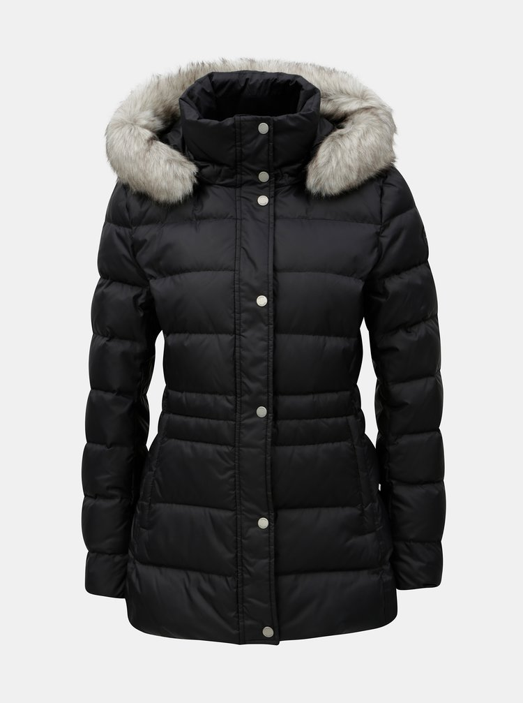 ce3769ebb Čierna dámska páperová prešívaná zimná bunda Tommy Hilfiger | ZOOT.sk