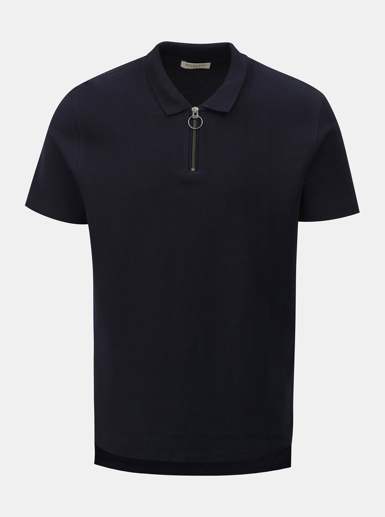 Tmavě modré polo tričko Selected Homme