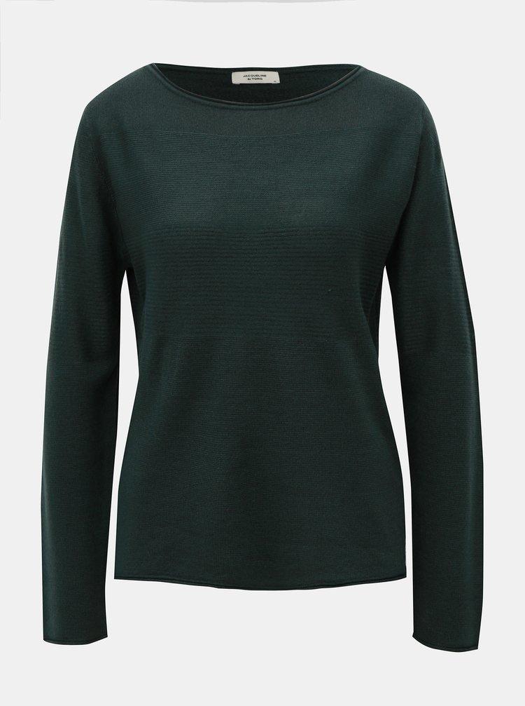 Pulover verde inchis Jacqueline de Yong