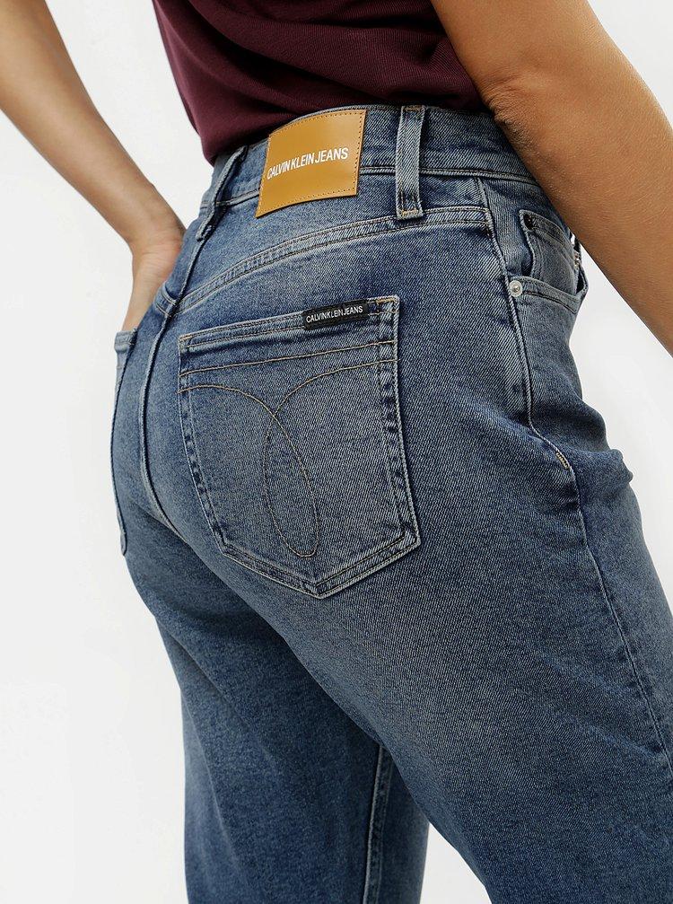 10dcb6b51 ... Modré dámske rifle s vysokým pásom Calvin Klein Jeans
