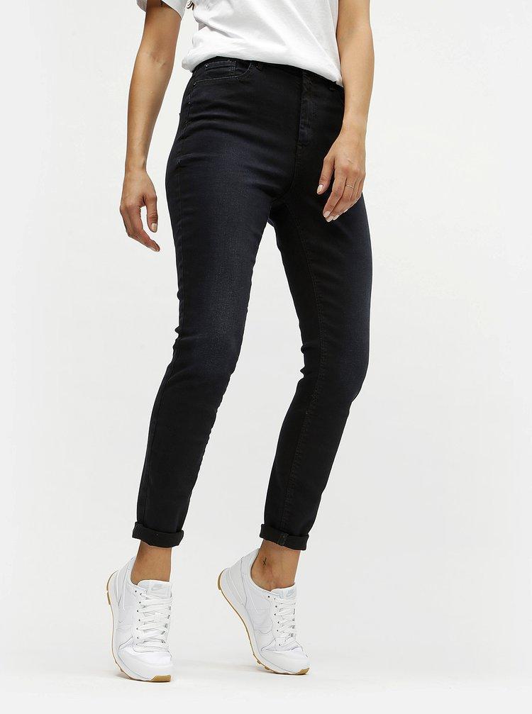 Tmavě modré skinny džíny s vysokým pasem Jacqueline de Yong