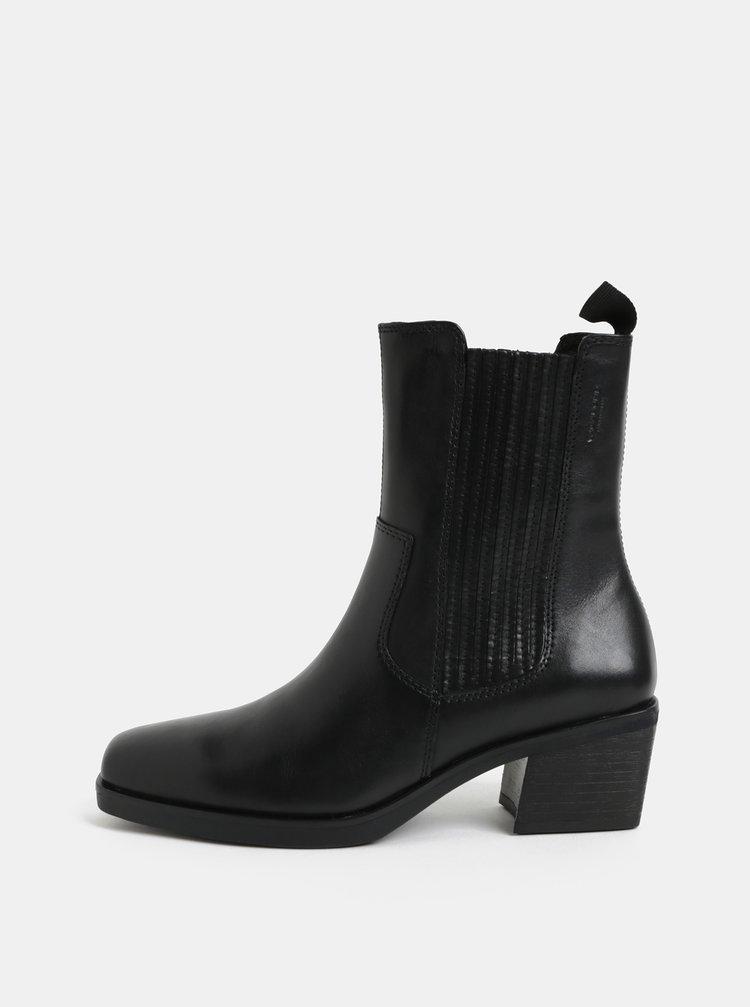 Černé dámské kožené chelsea boty Vagabond Simone