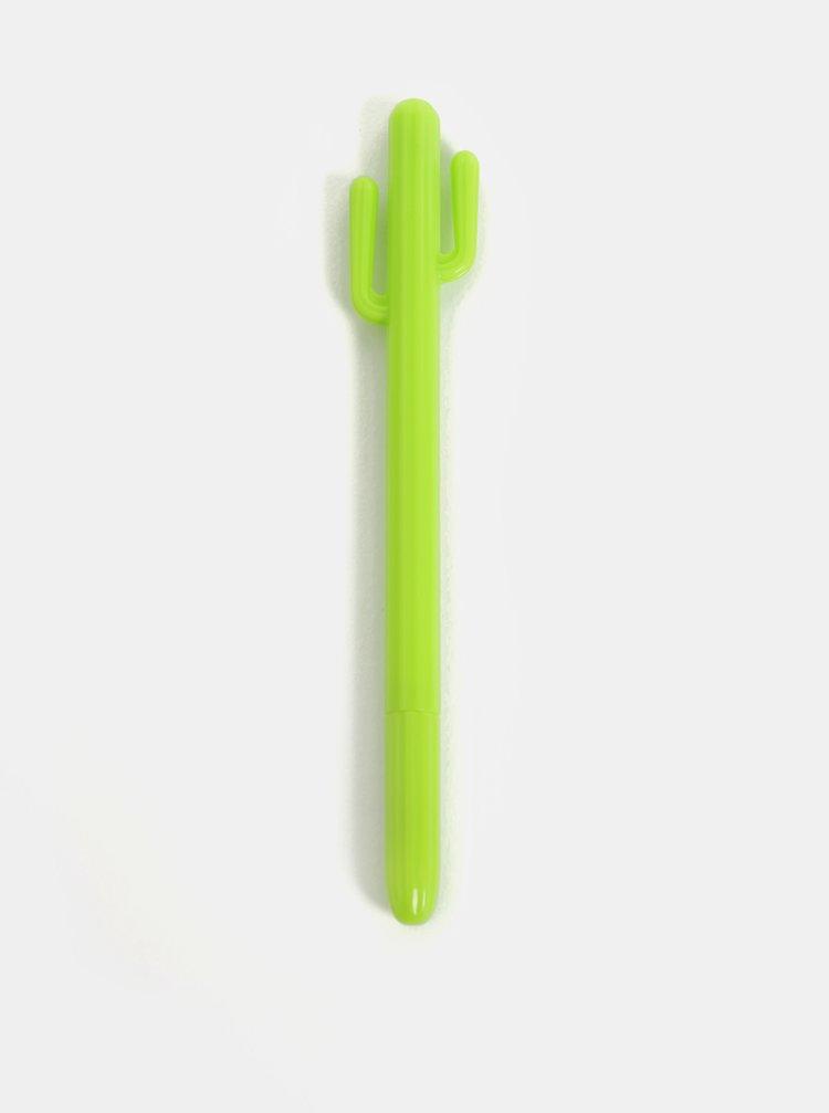 Světle zelená propiska ve tvaru kaktusu Mustard