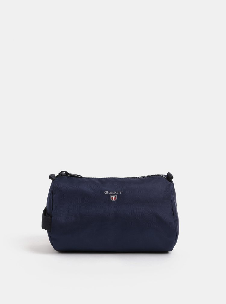 Tmavě modrá pánská  kosmetická taška GANT