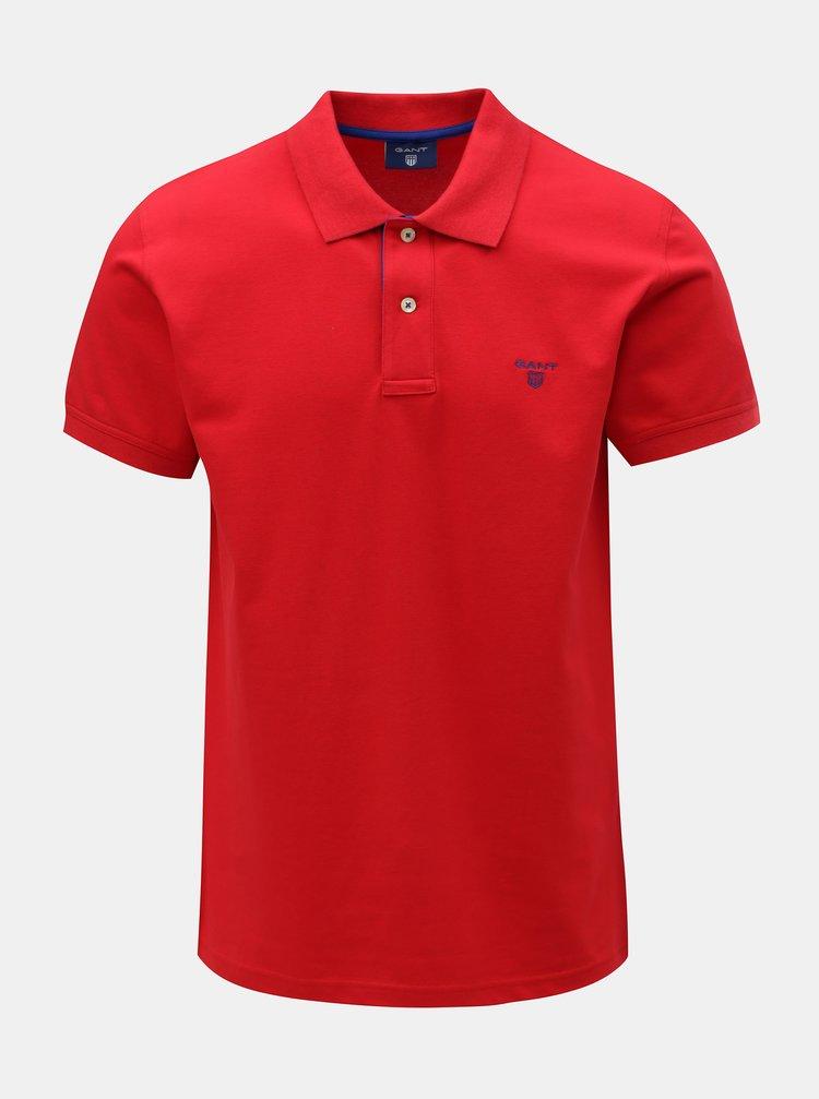 Červené pánské polo tričko GANT