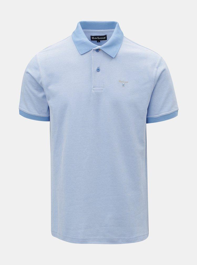 Tricou polo albastru deschis cu broderie discreta Barbour Sports Polo Mix