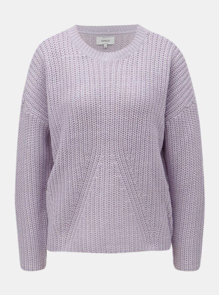 Světle fialový volný svetr ONLY Nicoya