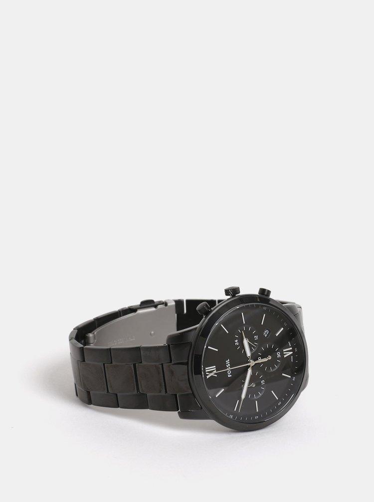 Černé pánské hodinky Fossil Neutra · Černé pánské hodinky Fossil Neutra 7b234c4728