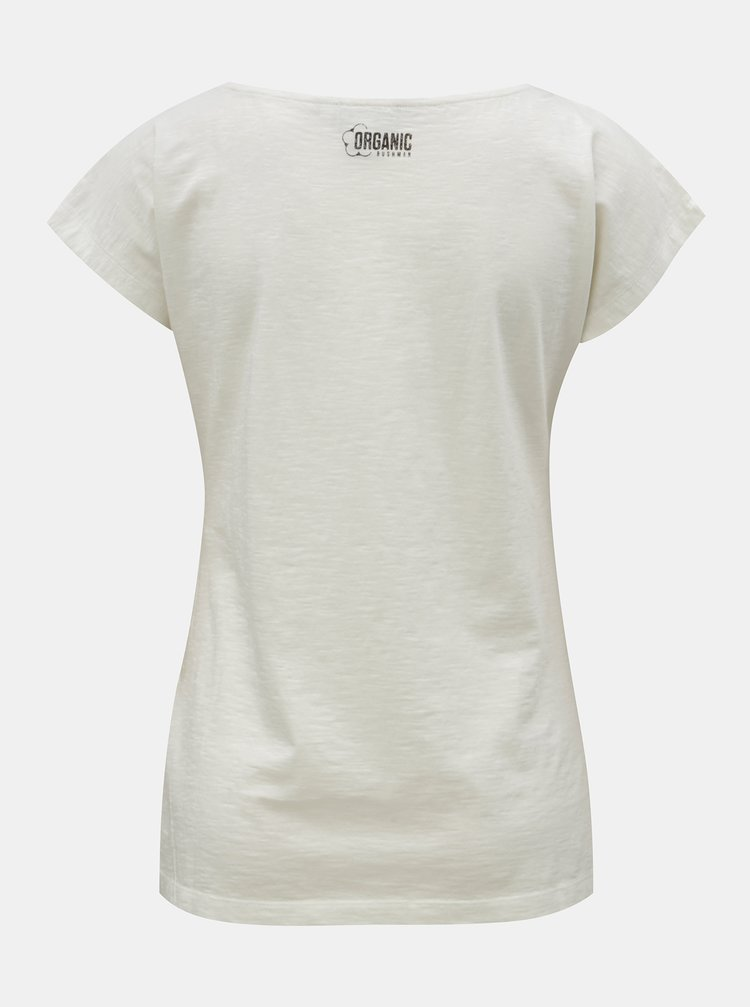 607db076df8 ... Krémové dámské tričko s potiskem BUSHMAN Fredonia