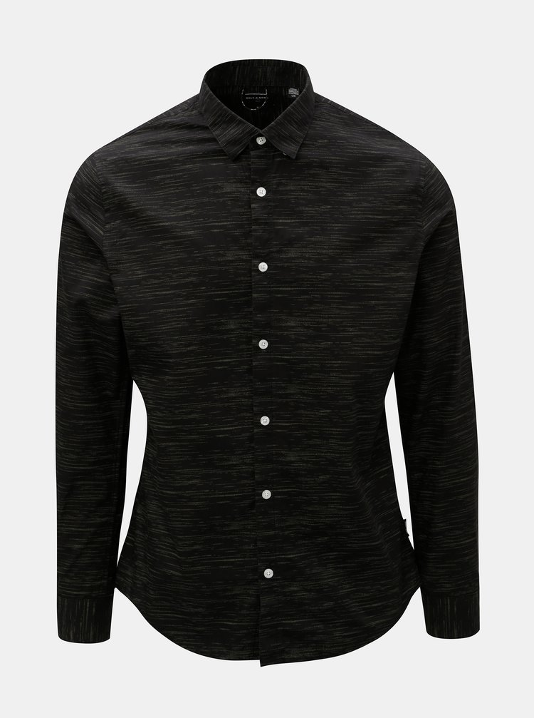 Camasa neagra melanj slim fit ONLY & SONS Oneill