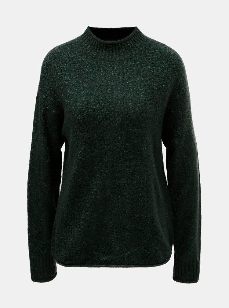 Pulover verde inchis stralucitor Jacqueline de Yong
