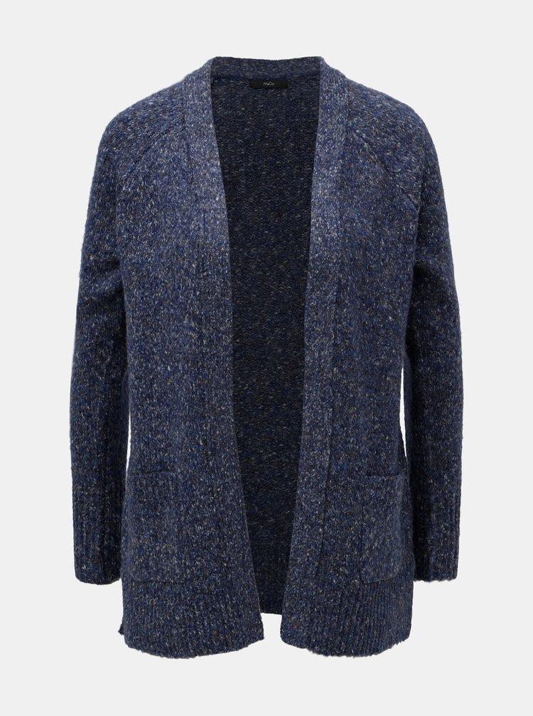 Modrý žíhaný kardigan s kapsami M&Co