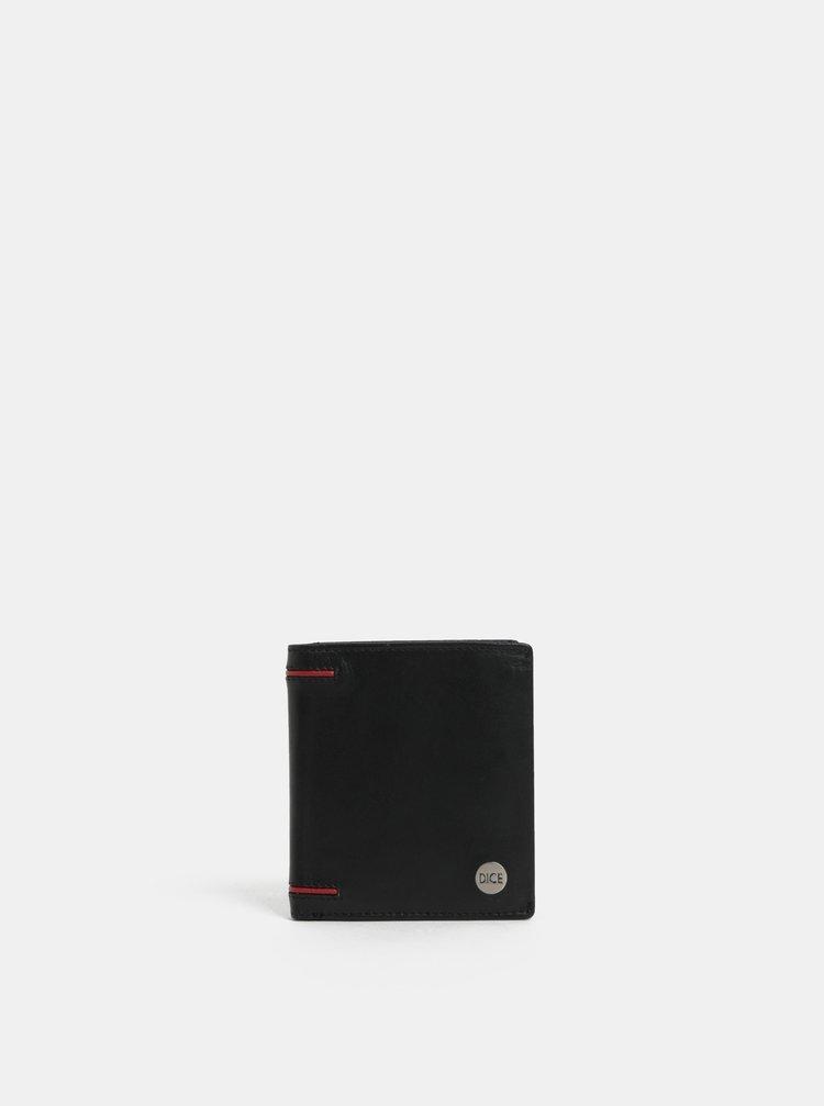 Černá kožená peněženka Dice Range
