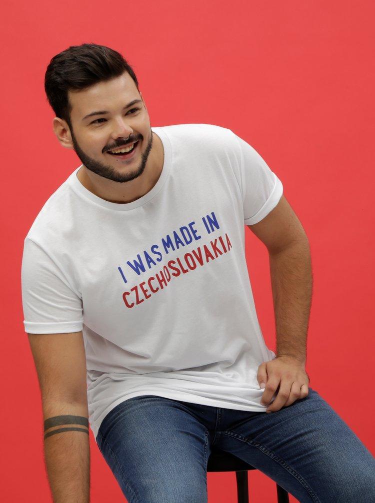 Biele pánske tričko ZOOT Originál I Was Made In Czechoslovakia