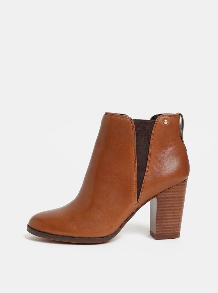 ... Hnědé dámské kožené chelsea boty ALDO Pessa bdc5a675d4