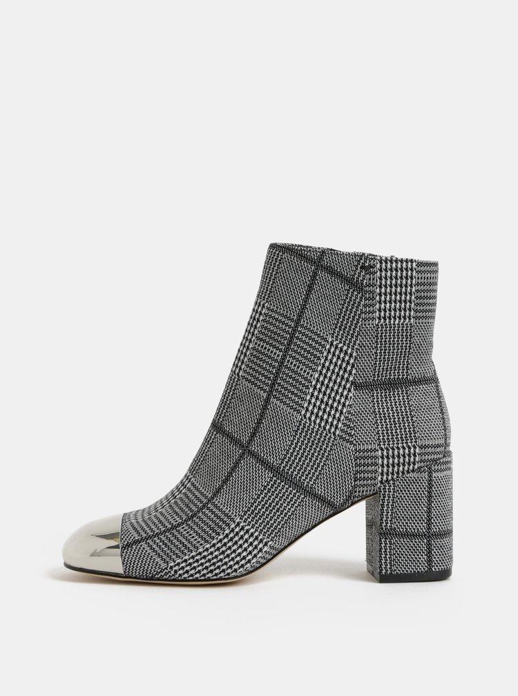 Šedé dámské vzorované kotníkové boty ALDO Seiria