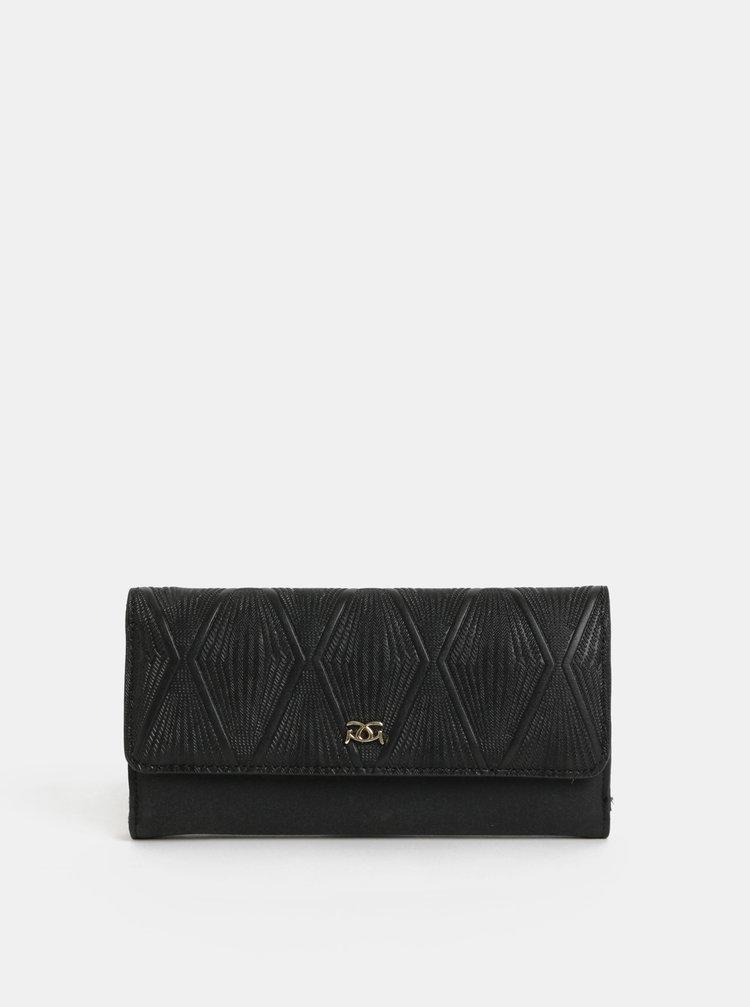 Čierna veľká peňaženka s plastickým vzorom Gionni Hebe