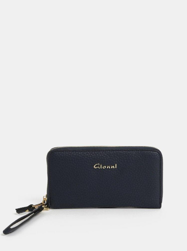 Tmavě modrá velká peněženka s přihrádkou a telefon Gionni Primula