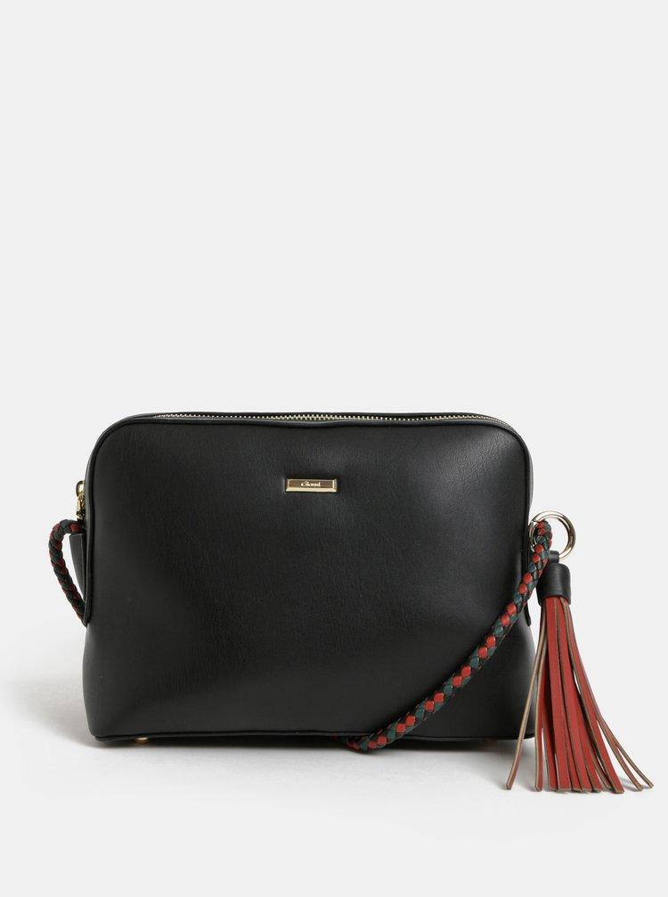 Čierna crossbody kabelka so strapcom Gionni Rosemarin