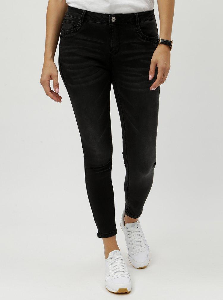 Černé skinny džíny s vyšisovaným efektem ONLY Tory